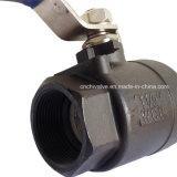 Plein robinet à tournant sphérique gauche de flottement de Wcb 2PC