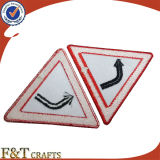 Auto-Adhesive Embroidery Patch di Sign Custom di traffico per Wholesales
