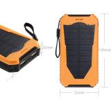 Cargador solar portátiles del teléfono móvil de alta capacidad con doble puerto USB 12000mAh