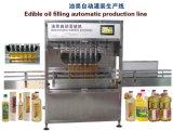 Máquina de relleno y que capsula del aceite de mesa automático lleno