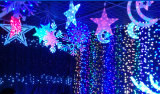 Het openlucht LEIDENE van de Decoratie van het Hotel van de Straat Netto Licht van Kerstmis