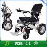 Кресло-коляска электричества алюминиевого сплава складывая для инвалид