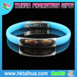 Silicone reso personale Bracelet con Medical Sign su Stainless Steel Buckle Plate
