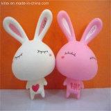 PVCビニールの白いウサギの赤ん坊のおもちゃ