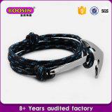 Do encanto feito sob encomenda quente da escora do Sell da forma bracelete colorido barato da corda