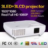 Mini projetor Home do cinema HD 1080P 3LCD 3LED