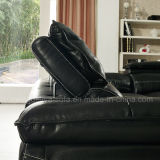 O sofá de couro popular ajustou-se com função da música do USB (919#)