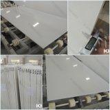 2cm純粋で白いシーザーの石造りの水晶平板(KKR-QF001)
