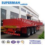 De Semi Aanhangwagen van de tri van de As van het Compartiment van de Zijgevel Vrachtwagen van de Lading
