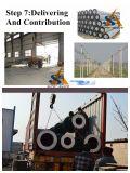 Pre-Stress o molde de aço concreto de grande resistência de Pólo que gira fazendo a máquina