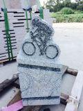 中国の花こう岩の灰灰色現代ボディ彫刻
