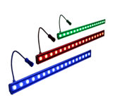 Iluminação exterior 18PCS RGB LED Wall Washer Light Color Change Light Bar