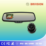 Monitor do espelho de carro de 3.5 polegadas mini com a câmera de 180 graus