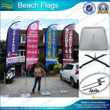 Banderas de la pluma de la playa de la impresión del poliester (M-NF04F06069)