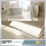 Azulejo de suelo de piedra Polished de la piedra caliza para el suelo del cuarto de baño y de la cocina/la pared