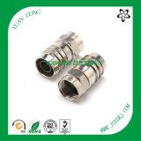 Conector de compresión CATV para cable coaxial RG6