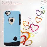 portable 2-in-1 protecteur/couverture/point de droit mobiles pour l'iPhone 6/6 positif