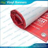 Il doppio ha rivestito bandiera stampata dei manifesti del PVC del vinile della maglia (M-NF26P07009)