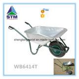 Carrinho de mão de roda Zinc-Plated Wb6414t da bandeja