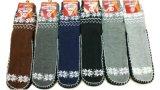 Männer strickten Gleitschutzweihnachtsfußboden-Socken-Fabrik-Hersteller