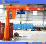 Standing livre 360 Degree Jib Crane com Electric Wire Rope Hoist
