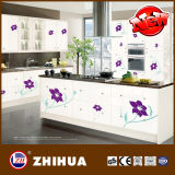 Flower Design를 가진 높은 Gloss Color Painting Kitchen Cabinet