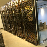 Partition ronde de pièce d'Anti-Empreintes digitales de type chinois de porte grillagée d'acier inoxydable
