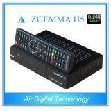 T2 combinado DVB C de Zgemma H5 DVB S2 DVB da caixa do receptor da tevê do H. 265