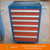 Шкаф инструмента стальной завальцовки разнослоистых ящиков сверхмощный на колесах