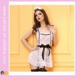 Hotsale 백색 색깔 레이스 여자 섹시한 란제리 숙녀 밤 일본 유럽 하녀 복장