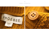 La ropa 100% del algodón de la venta al por mayor de Phoebee embroma los suéteres de las muchachas