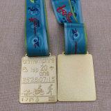 Изготовленный на заказ карате металла/бежать/монетка/медальон/золото/серебр/бронза/эмаль/марафон/медаль значка/спорта с тесемкой