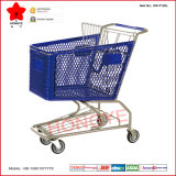 chariot métallique en plastique aux achats 100L-180L pour le supermarché (OW-P120L)