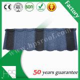 Mattonelle di tetto rivestite lapidate cinesi rivestite galvanizzate del francese delle mattonelle di tetto del metallo