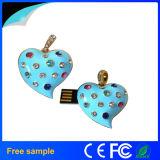Necklace&Pendant OEM 사랑스러운 선물 보석 심혼 모양 USB 섬광 급강하