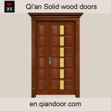Lintelが付いているSapeleの純木の表玄関の両開きドア