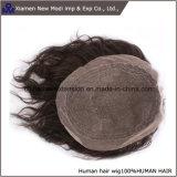 100%の人間の毛髪の人のToupeeの毛