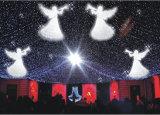 Lumière de rideau en décoration de restaurant d'hôtel de Noël de DEL