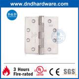 Fuego Calificación Bisagra a tope con el certificado UL para 4.5X4X3.4 Puerta contra incendios