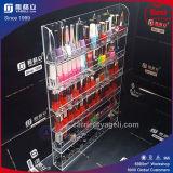 Étalage acrylique clair de vernis à ongles d'OEM Ygl-91