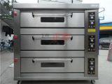 3 couches et four électrique de paquet de porte d'acier inoxydable de 9 plateaux (ZBB-309D)