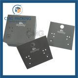 Carte blanche de luxe d'étalage de boucle d'oreille de carte avec le panneau noir (CMG-094)