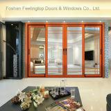 Porta de alumínio do pátio do vidro de deslizamento para o quarto residencial (FT-D190)