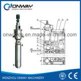 Alto máquina usada del refinamiento del aceite de motor de la película fina destilador Agitated eficiente