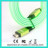 Плоский зеленый цвет кабеля куртки PVC 1.4V 1080P HDMI