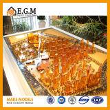 Modelos de la exposición del modelo del edificio/modelo comerciales del edificio del proyecto