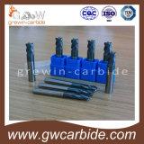 炭化物の端製造所のカッター4のフルートのAltinのコーティングHRC65