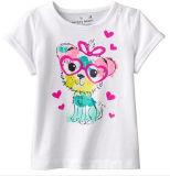 T-shirt de fille de lettre de mode chez des vêtements des enfants avec l'impression Sgt-066