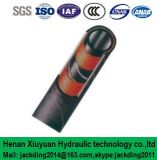 Spirale renforcée de fil d'acier (enveloppée), boyau en caoutchouc hydraulique de garniture intérieure de fibre (ajustage de précision de pipe 100r4)