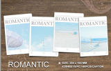 Livro de exercício de escola romântico do livro de nota do projeto novo para relativo à promoção